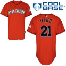 Miami Marlins #21 Christian Yelich Red Alternate Cool Base Jersey
