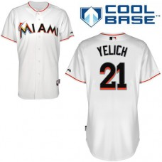 Miami Marlins #21 Christian Yelich White Home Cool Base Jersey