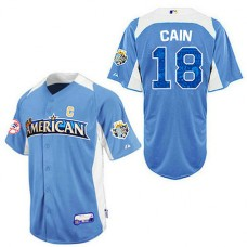 San Francisco Giants #18 Matt Cain Blue 2012 All-Star BP Jersey