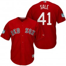 Boston Red Sox Chris Sale #41 2017 Spring Training Grapefruit League Patch Red Cool Base Jersey