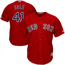Boston Red Sox Chris Sale #41 Alternate Red Cool Base Jersey