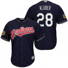 Cleveland Indians Corey Kluber #28 2017 Spring Training Cactus League Patch Navy Cool Base Jersey