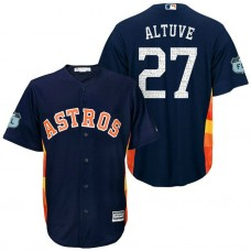 Houston Astros #27 Jose Altuve 2017 Spring Training Grapefruit League Patch Navy Cool Base Jersey