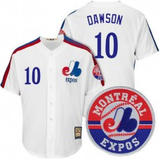 Montreal Expos Andre Dawson #10 Cooperstown White Cool Base Jersey