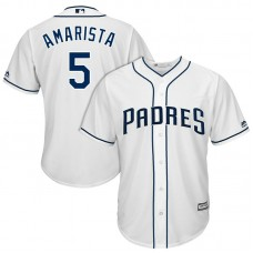 San Diego Padres Alexi Amarista #5 2017 Home White Cool Base Jersey