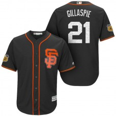 San Francisco Giants #21 Conor Gillaspie 2017 Spring Training Cactus League Patch Black Cool Base Jersey