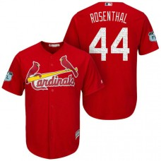 St. Louis Cardinals #44 Trevor Rosenthal 2017 Spring Training Grapefruit League Patch Scarlet Cool Base Jersey