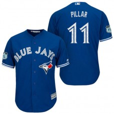 Toronto Blue Jays #11 Kevin Pillar 2017 Spring Training Grapefruit League Patch Royal Cool Base Jersey