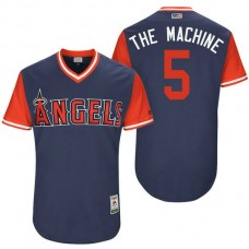 Los Angeles Angels Albert Pujols #5 The Machine Navy Nickname 2017 Little League Players Weekend Jersey