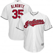 Abraham Almonte #35 Cleveland Indians Replica Home White Cool Base Jersey