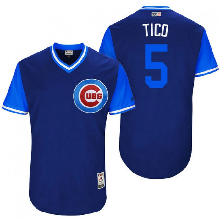 Chicago Cubs Albert Almora #5 Tico Royal Nickname 2017 Little League Players Weekend Jersey