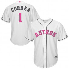 Houston Astros #1 Carlos Correa White Cool Base Jersey 2017 Mother's Day