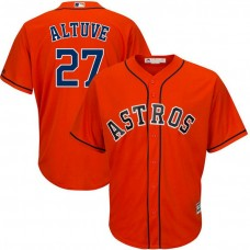 Houston Astros #27 Jose Altuve Replica Alternate Orange Cool Base Jersey