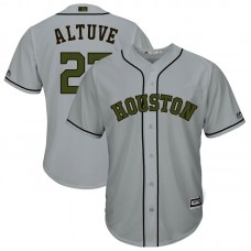 Houston Astros #27 Jose Altuve Grey Cool Base Jersey 2017 Memorial Day