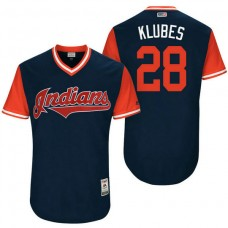 Cleveland Indians Corey Kluber #28 Klubes Navy Nickname 2017 Little League Players Weekend Jersey