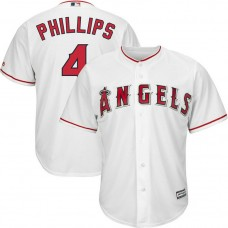 Brandon Phillips #4 Los Angeles Angels Home White Cool Base Jersey
