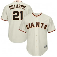 Conor Gillaspie #21 San Francisco Giants Replica Home Cream Cool Base Jersey