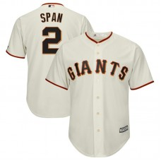 Denard Span #2 San Francisco Giants Replica Home Cream Cool Base Jersey