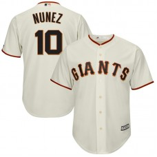 Eduardo Nunez #10 San Francisco Giants Replica Home Cream Cool Base Jersey