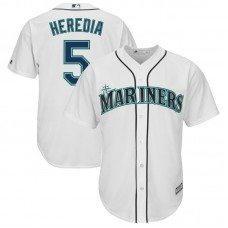 Guillermo Heredia #5 Seattle Mariners Replica Home White Cool Base Jersey