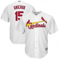 St. Louis Cardinals #15 Randal Grichuk Home White Cool Base Jersey