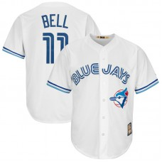 George Bell #11 Toronto Blue Jays Replica Cooperstown White Cool Base Jersey