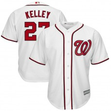 Shawn Kelley #27 Washington Nationals Replica Home White Cool Base Jersey
