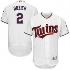 Mens Minnesota Twins Brian Dozier #2 Home White Cool Base Jersey