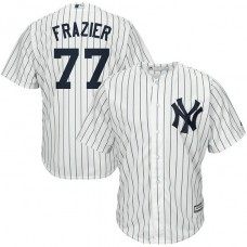 Clint Frazier #77 New York Yankees Replica Home White Cool Base Jersey