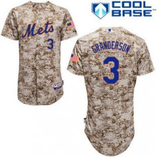 YOUTH New York Mets #3 Curtis GrandersonAuthentic Camo Alternate Cool Base Jersey