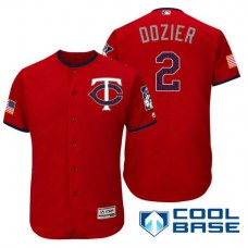Minnesota Twins #2 Brian Dozier Red Stars & Stripes 2016 Independence Day Cool Base Jersey