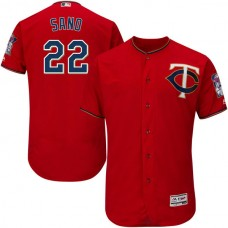 Minnesota Twins #22 Miguel Sano Scarlet Flexbase Authentic Collection Jersey