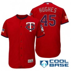 Minnesota Twins #45 Phil Hughes Red Stars & Stripes 2016 Independence Day Cool Base Jersey