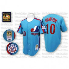 Montreal Expos #10 Andre Dawson Blue Throwback Jersey