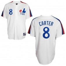 Montreal Expos #8 Gary Carter White Jersey