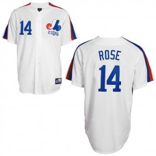 Montreal Expos #14 Pete Rose White Jersey