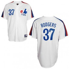 Montreal Expos #37 Steve Rodgers White Jersey