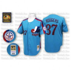 Montreal Expos #37 Steve Rodgers Blue Jersey