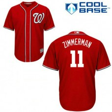 Washington Nationals #11 Ryan Zimmerman Authentic Cool Base Red Jersey