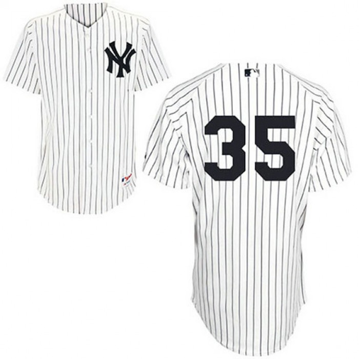 New York Yankees #35 Mike Mussina White Home Jersey