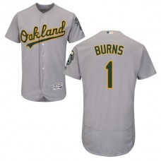 Oakland Athletics Billy Burns #1 Grey Authentic Collection Flexbase Jersey