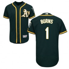 Oakland Athletics Billy Burns #1 Green Authentic Collection Flexbase Jersey