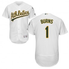 Oakland Athletics Billy Burns #1 White Authentic Collection Flexbase Jersey