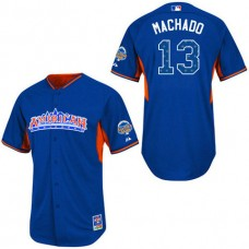Baltimore Orioles #13 Manny Machado Authentic Royal Blue American League 2013 All Star BP Jersey