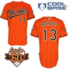 YOUTH Baltimore Orioles #13 Manny MachadoAuthentic Orange Alternate Cool Base Jersey