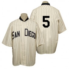San Diego Padres #5 Alexi Amarista Cream 1936 Turn Back the Clock 80th Anniversary Jersey