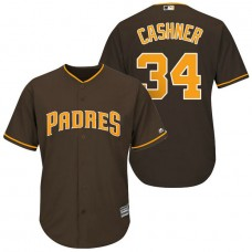 San Diego Padres #34 Andrew Cashner Brown Cool Base Jersey