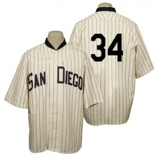 San Diego Padres #34 Andrew Cashner Cream 1936 Turn Back the Clock 80th Anniversary Jersey