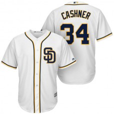 San Diego Padres #34 Andrew Cashner White Cool Base Jersey