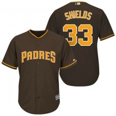 San Diego Padres #33 James Shields Brown Cool Base Jersey